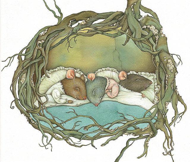 Мышки в норке спят, оригинал