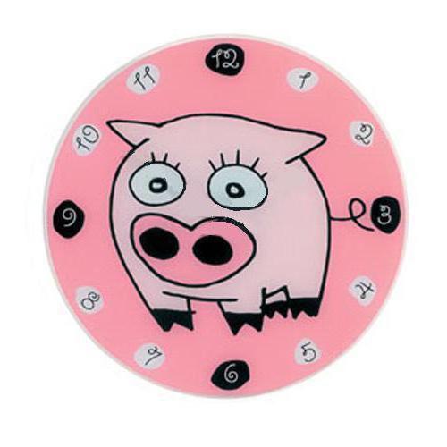 Часы Свинка, часы, поросенок,
