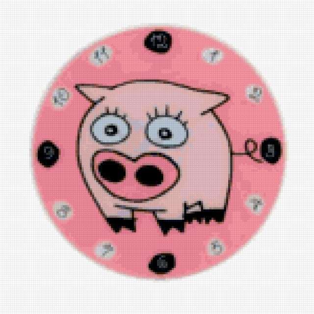 Часы Свинка, предпросмотр