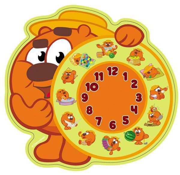 Часы Смешарики, часы, детям,