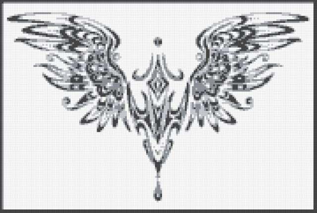 Орнамент=1, ч-б-серый, 4цвета,