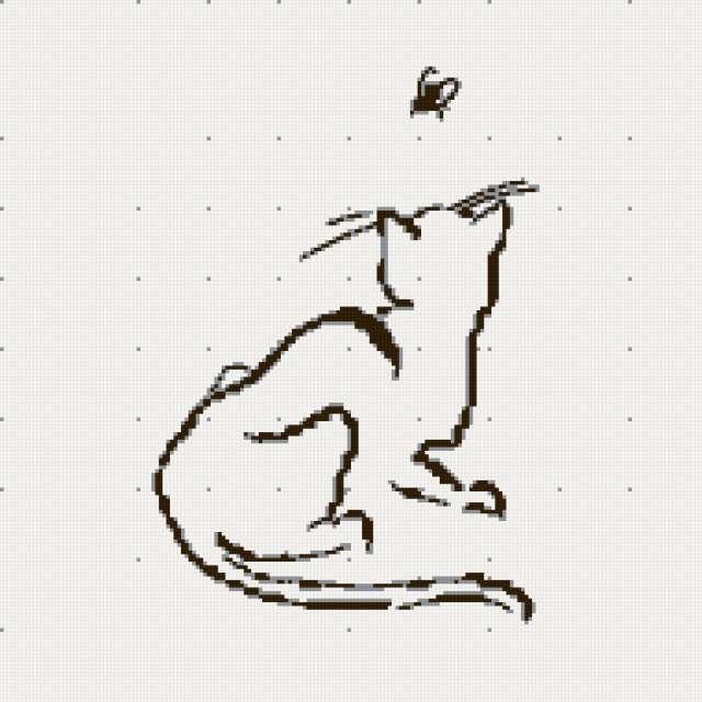 Котик ч-б-серый=3цвета==190,