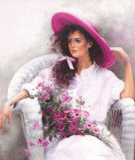 Девушка в шляпе 1, оригинал