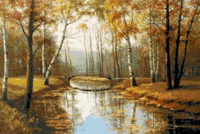 Пейзаж. Осень, пейзаж, река,