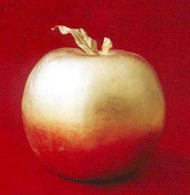 Golden Apple, фрукты, абстракт