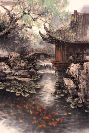 Дом в китайском стиле, китай,