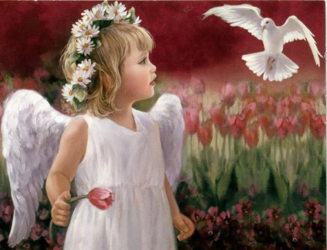 Маленький ангел, дети, ребенок