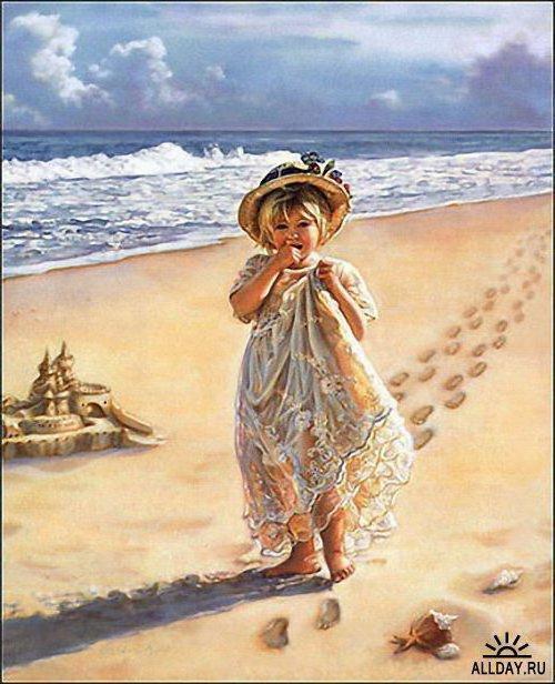 Девочка на пляже,