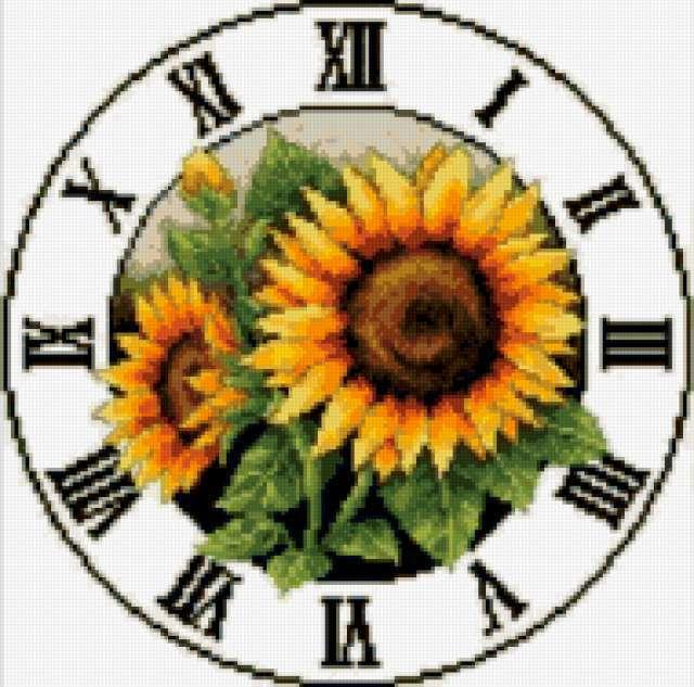Часы-подсолнухи, часы
