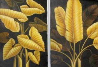 "Diptych - ""Golden Leaves"", �������"