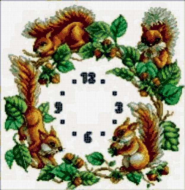 Часы белочки, часы, животные,