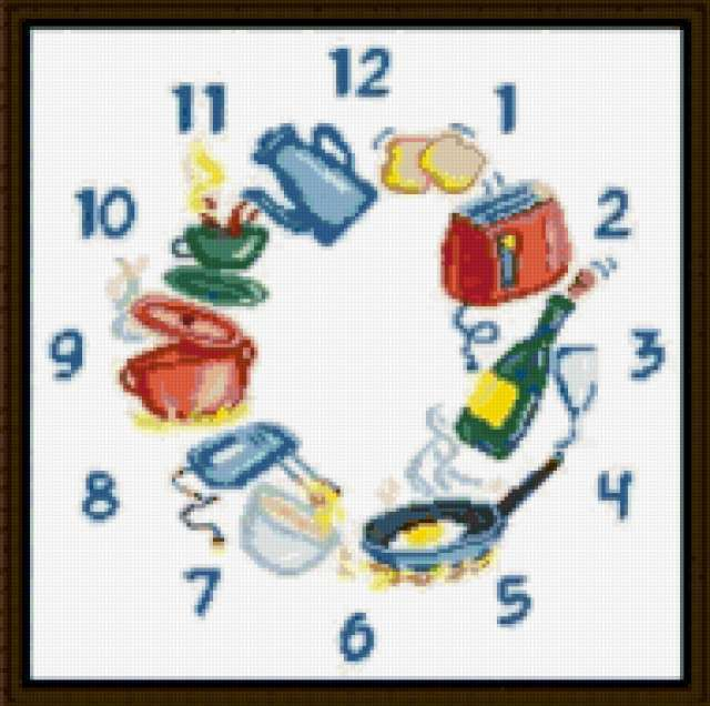 Кухонные часы, предпросмотр