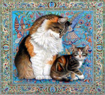 Схема вышивки крестом подушки-животные