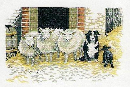 Обитатели фермы овцы, природа