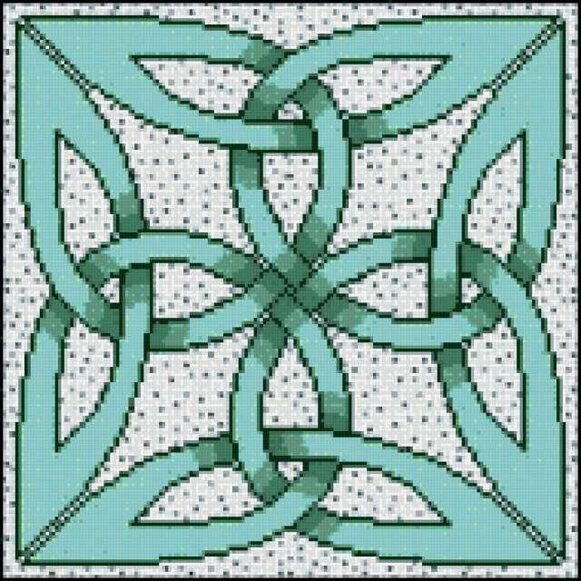 Кельтский орнамент, подушка