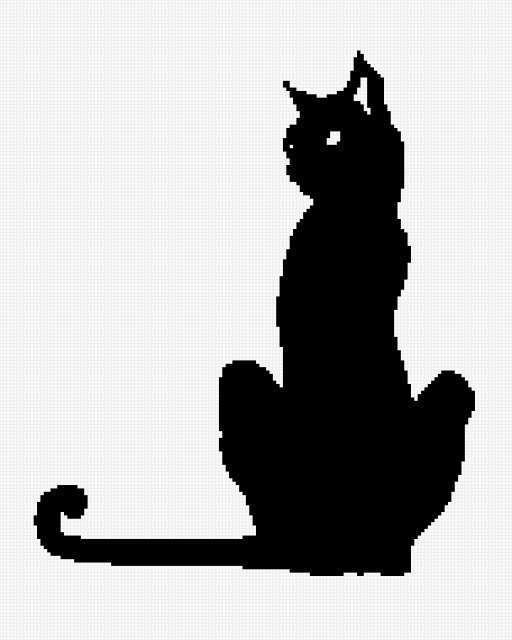 Черно-белый кот, предпросмотр