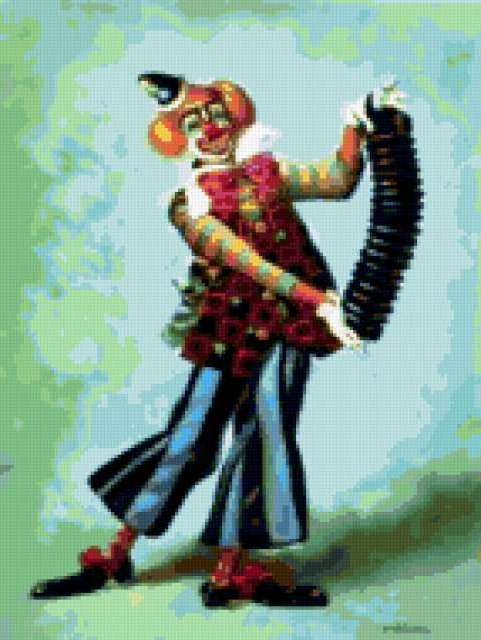 Клоун гармонист, предпросмотр