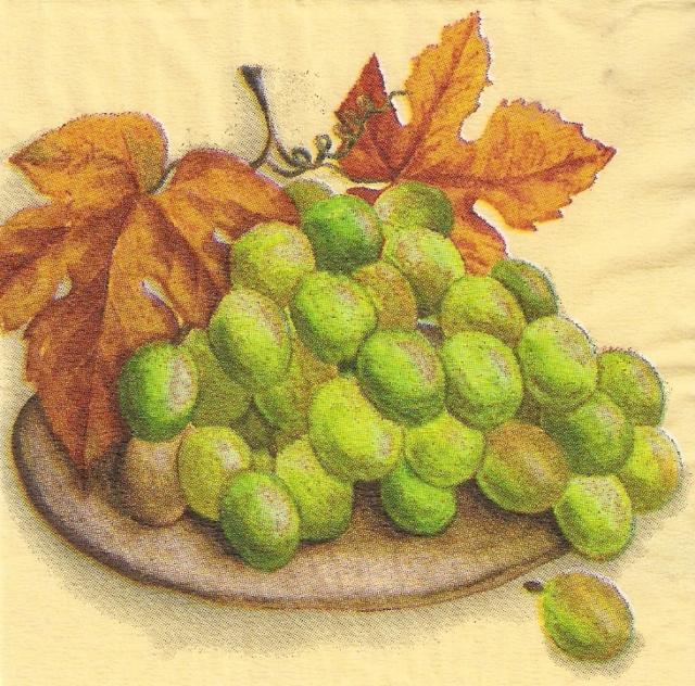 Гроздь винограда, подушка