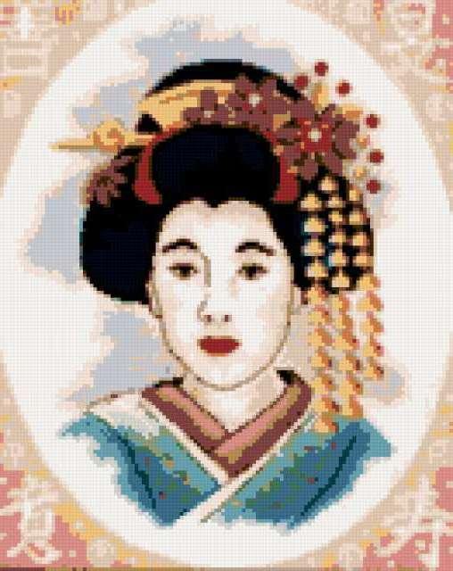Портрет японки, предпросмотр