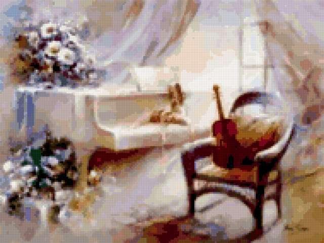 Белый рояль и скрипка,