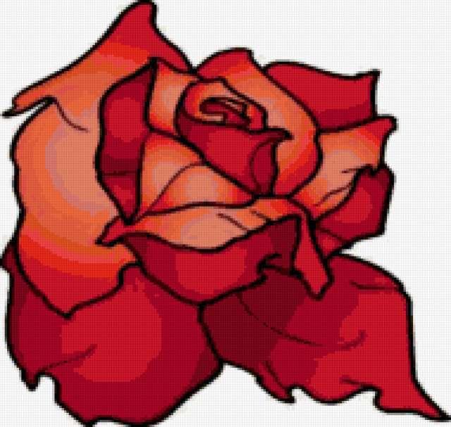 Подушка 49 Красная роза,