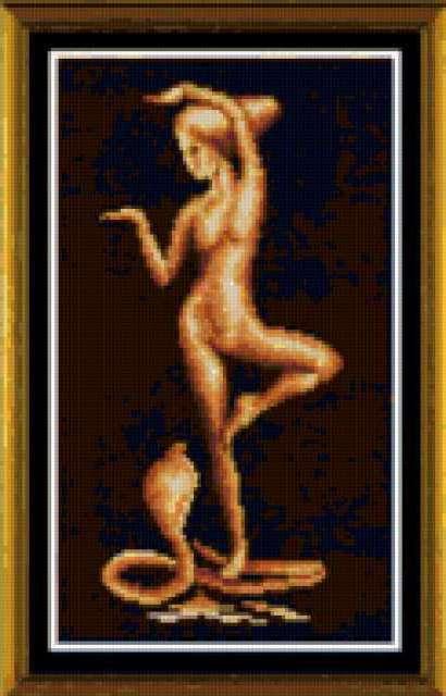 Девушка с коброй, предпросмотр