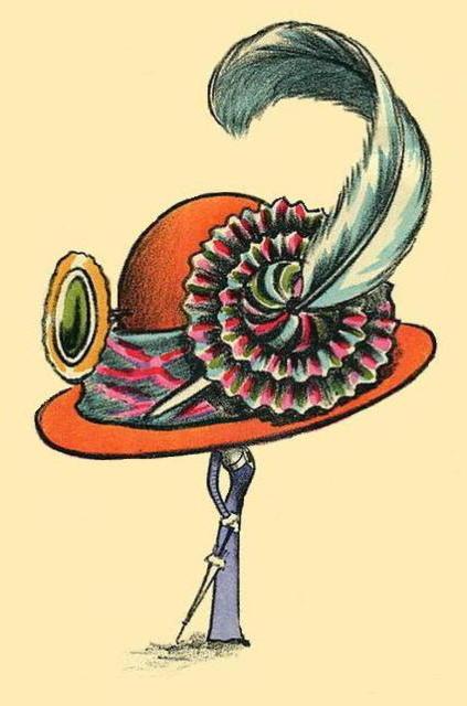 Шляпа с пером, оригинал