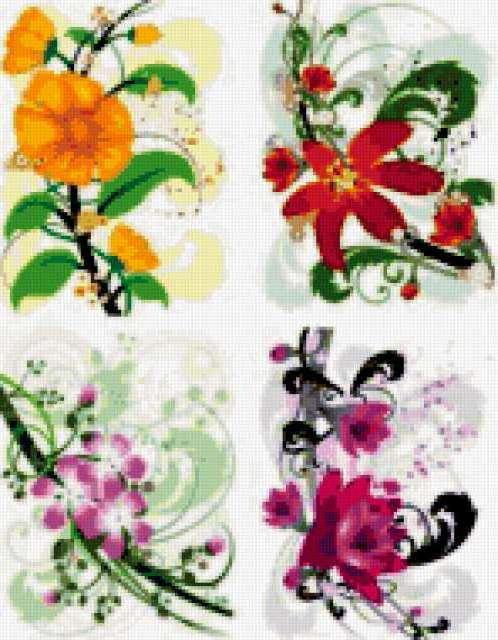 Swirl flower vector