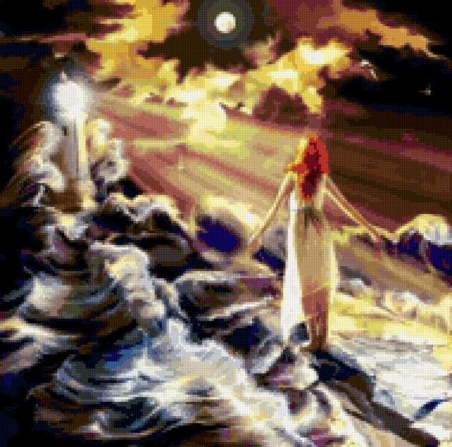 Волны у маяка, предпросмотр
