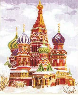 Собор Василия Блаженного зимой
