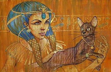 Египтянка с кошкой, оригинал