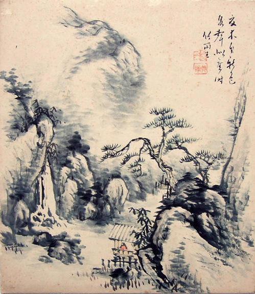 Японский пейзаж, оригинал
