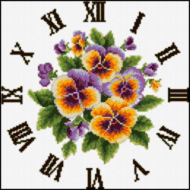 "Часы "" цветы "", предпросмотр"
