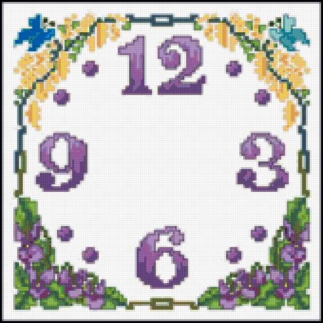 Схема вышивания с часами