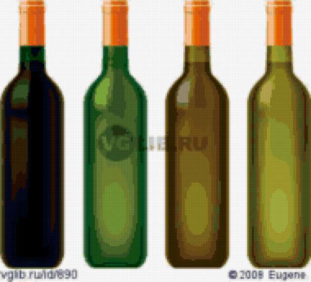 Винные бутылки, предпросмотр