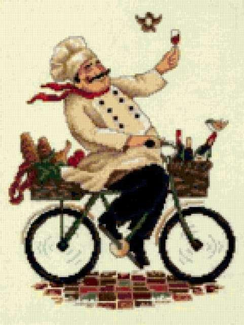Повар на велосипеде