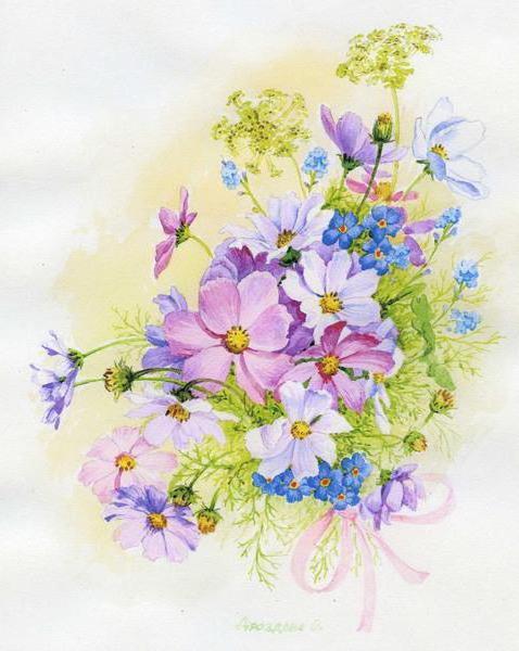 Букеты из цветов для начинающих 60