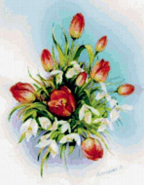 Тюльпаны и подснежники, цветы,