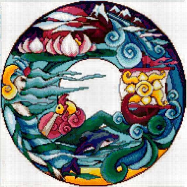 Подушка Морская фантазия
