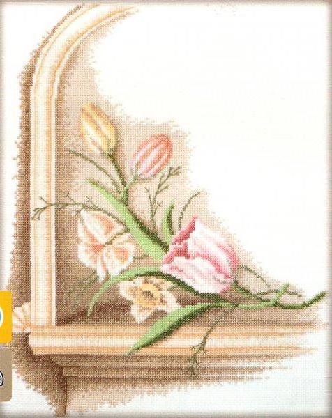 Античные цветы, оригинал