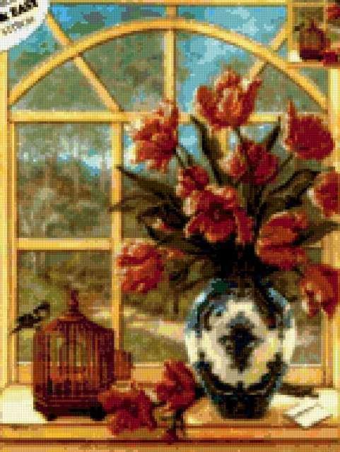Цветы на окне, предпросмотр