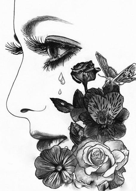 Немного печали, девушка, образ