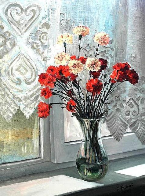 Гвоздики на окне, оригинал