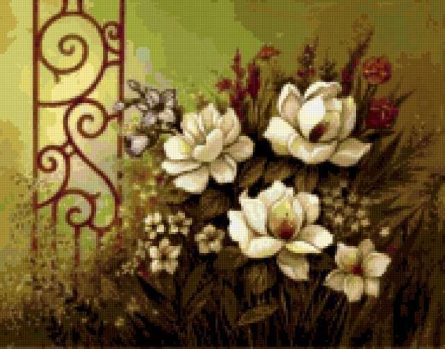 Белые цветы, предпросмотр