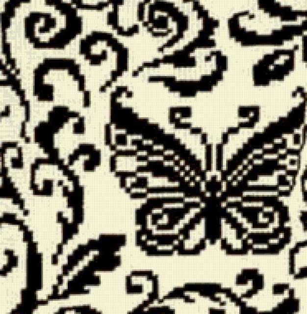 бабочка, черно-белое