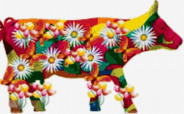 Цветочная корова, предпросмотр