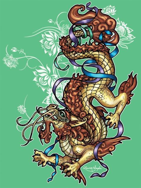 Цветы лотоса и китайский