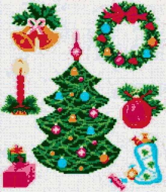 Мини-вышивки для Рождества,