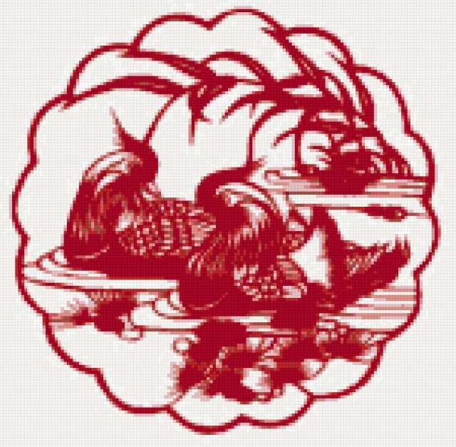 Красный монохром Уточки