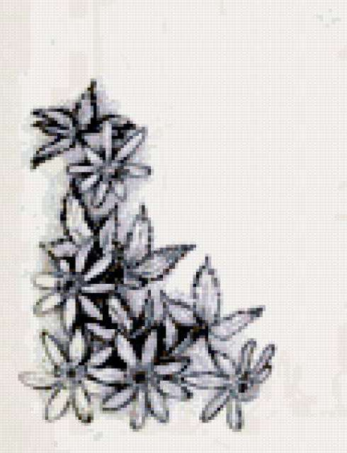 Вышивка монохром цветы фото